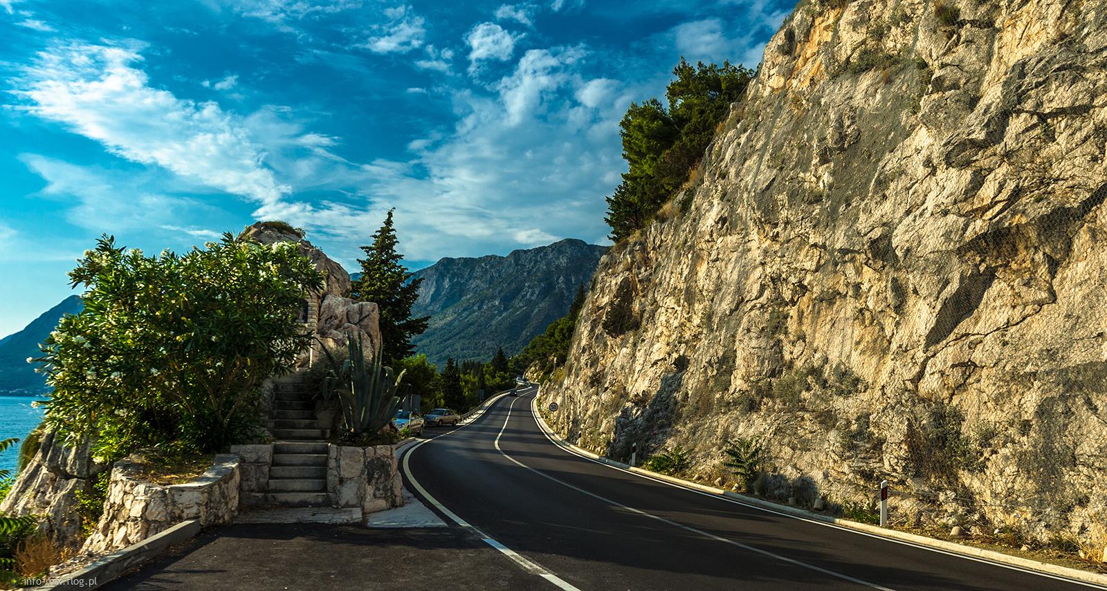 Chorwacja - Południowa Dalmacja - droga w kierunku miejscowości Gradac