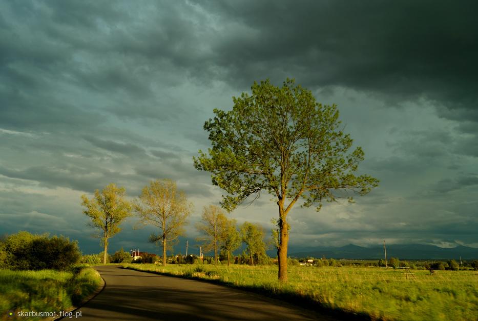 Z moich okolic...tuż przed burzą.......