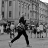 Kraków street photo... po<br />czekaj już biegnę