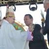 Goraj -30 sierpnia 2015 -<br />ordynariusz diecezji ks.b<br />p Marian Rojek z gospodar<br />zami dożynek-wójtem Anton<br />im Łukasikiem i starostą <br />M.Tokarskim