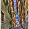 Uliczka, Torbole, Włochy,<br /> hdr ::